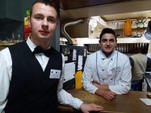 Restoran Gabara, učenici na stručnoj praksi